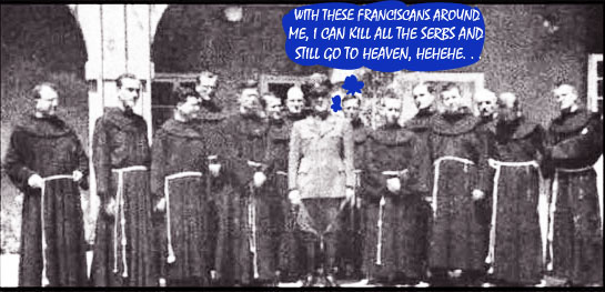 Nazi-puppet-Ante-Pavelic-with-Catholic-Franciscian-Monks