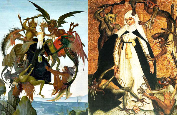 Saint; Anthony; of; the; Desert; Catherine; of; Siena; being; attacked; by; devils