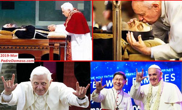 masonic;  satanic; popes; ratzinger; bergoglio; are; masters; of; deceit;padre; pio; uncorrupt; body
